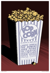 Popcorn poster by Moonshake Design