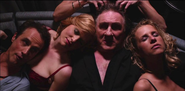 Gérard Depardieu and 'friends' in Welcome To New York (dir Abel Ferrara, 2014)