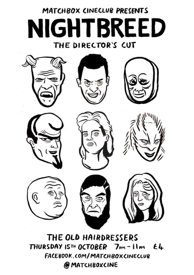 Matchbox Cineclub #10: Nightbreed: The Director's Cut poster by Erin McGrath