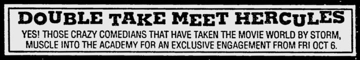 Newspaper ad, The Sydney Morning Herald, 28/09/1989