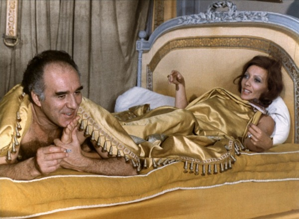 Michel Piccoli and Stéphane Audran in Les Noces Rouges.